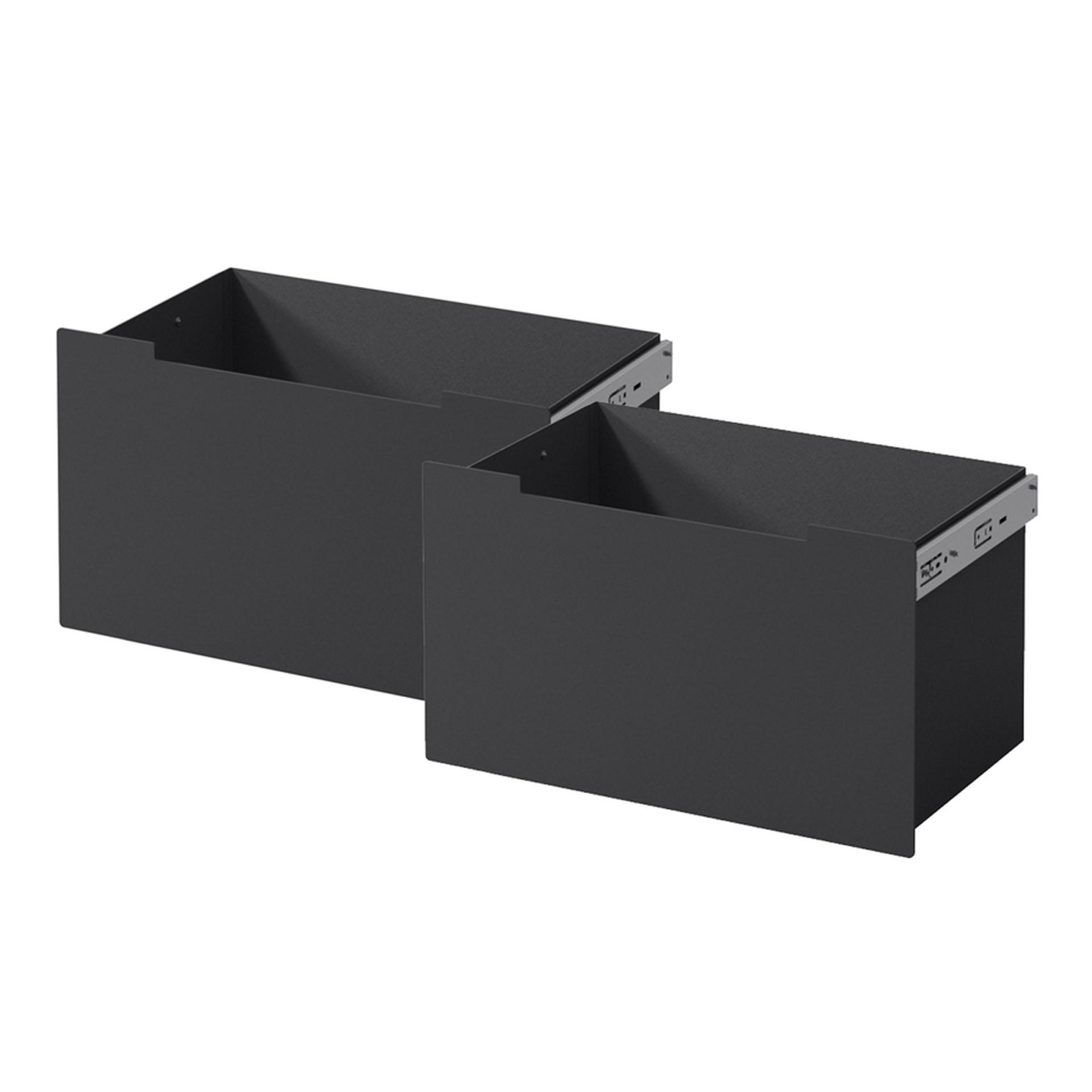 Schubladen Stahl schwarz - Front schwarz für Nordpeis Me Bank