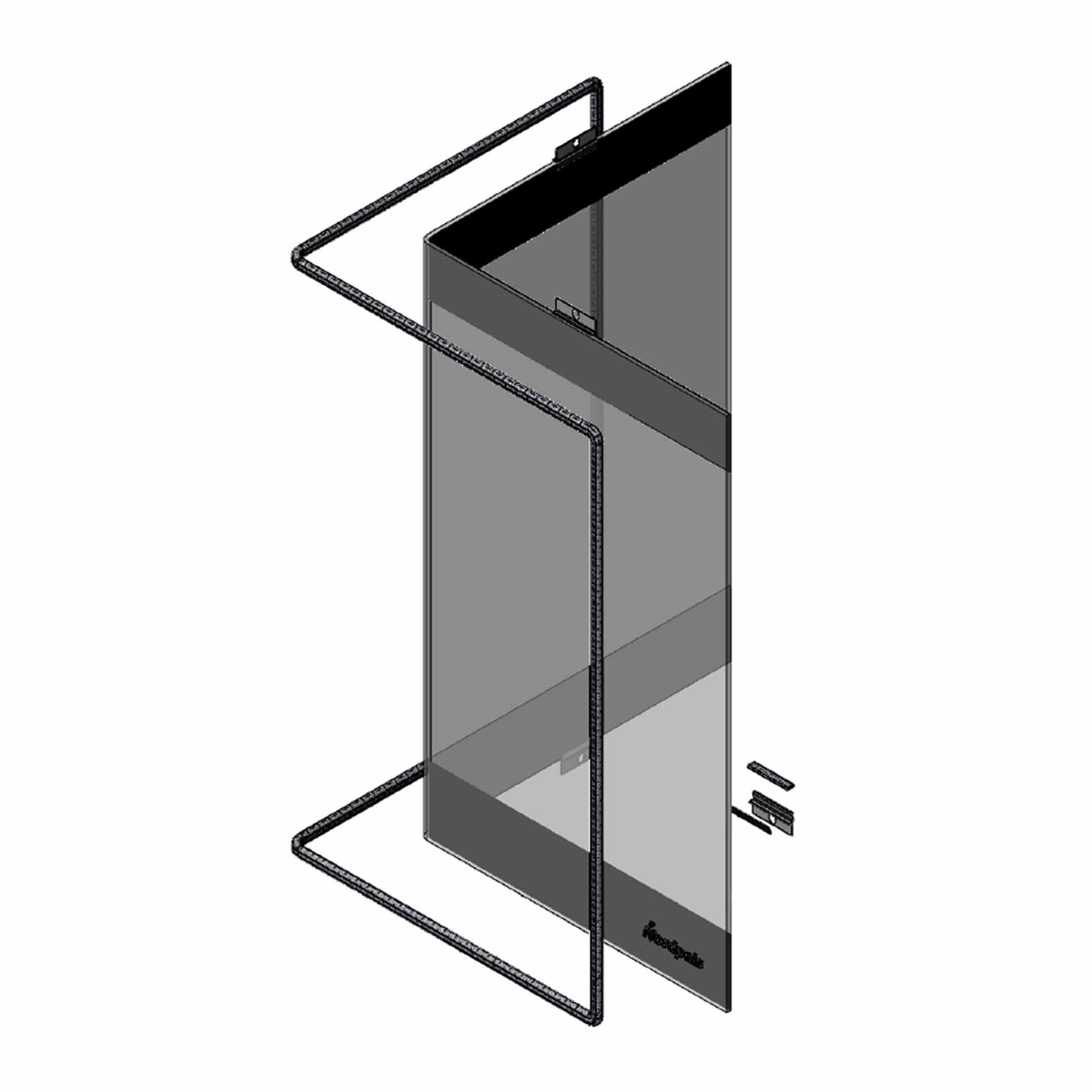 Winkelglasscheibe für Nordpeis S-31A - 2