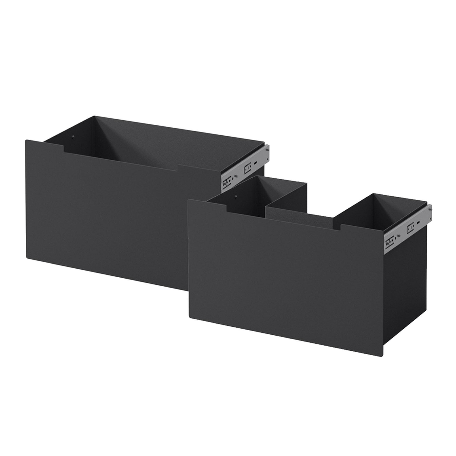 Schubladen Stahl schwarz Zuluft - Front schwarz für Nordpeis Me Bank
